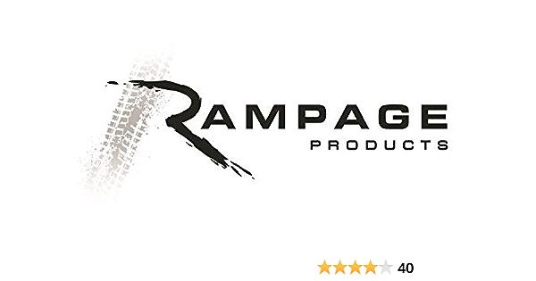 Rampage 94301 Black Mesh Sun Brief and Topper for 97-06 Jeep Wrangler TJ