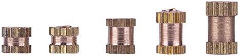 Rändeleinsatz - VIFER M2 Messingzylinder Rändelrunde Einspritzeinsätze Eingebettete Muttern 150St