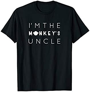 Birthday Gift I'm The Monkey's Uncle, Uncle , Funny Uncle Gift Long Sleeve Funny Shirt / Navy / S - 5XL
