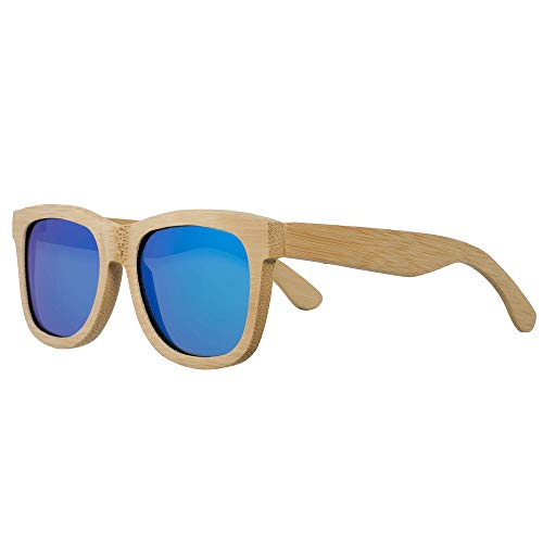 Bamboo Wood Sunglasses for Men and Women Polarized Wooden Featuring 9 LAYERED ()