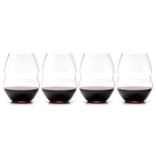Riedel Swirl Stemless Red Wine Glass, Set of 4 (Wine Red Riedel Glass)