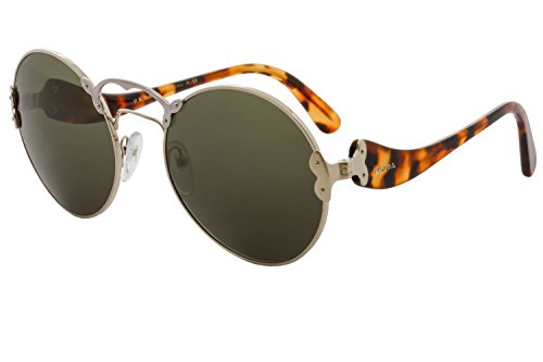 Prada Women's 0PR 55TS Pale Gold/Silver/Green Sunglasses