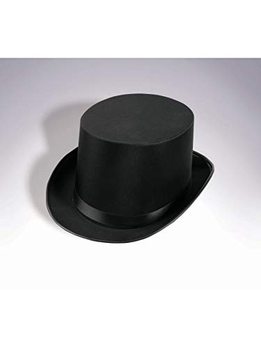 Satin Deluxe Black Top Hat -