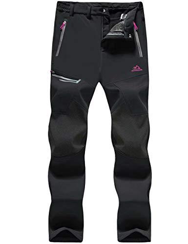 MAGCOMSEN Women's Winter Snow Pants Fleece Lined Water Resistant Hiking Snowboard Ski Pants with Zip Pockets