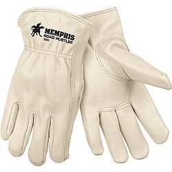 Memphis Glove (MCR Safety Gloves) 3200S - Road Hustler Driverx27;s Work Gloves - Unlined, Size Small, Slip-On Cuff