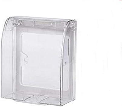 Enchufe Enchufe eléctrico Cubierta impermeable Caja gruesa impermeable Baño 86 Tipo Interruptores de pared Enchufes Caja impermeable (Type : Colorless and transp): Amazon.es: Bricolaje y herramientas