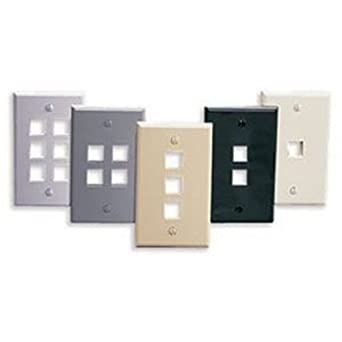Leviton 41080-3BP QuickPort Wallplate 1 Gang 3 Port Standard Size Plastic Brown