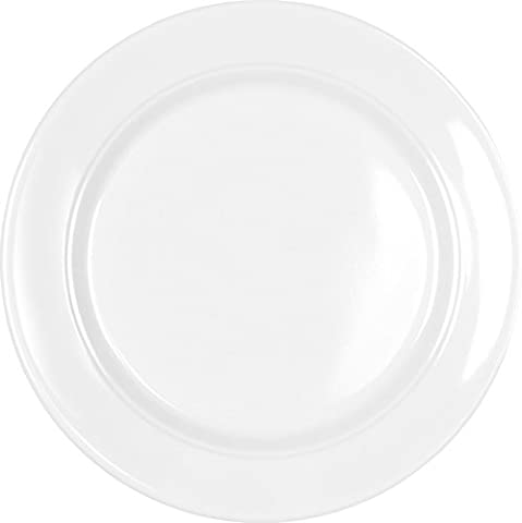 Q Squared Diamond Round Bread & Butter Plate, 5-1/2-inches, Set of 4, White (Squared Round Dining Room Table)