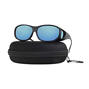 Fit Over Sunglasses Polarized Lens with Case Wear Over Prescription Eyeglasses Fitover for Men and Women