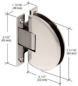 CLA037PN CRL Polished Nickel Classique 037 Series Wall Mount Standard Back Plate Hinge