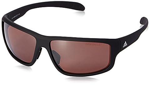 adidas Kumacross 2.0 A424 6056 Polarized Rectangular Sunglasses, Black Matte & Black, 64 mm - 2.0 Rx Eyewear