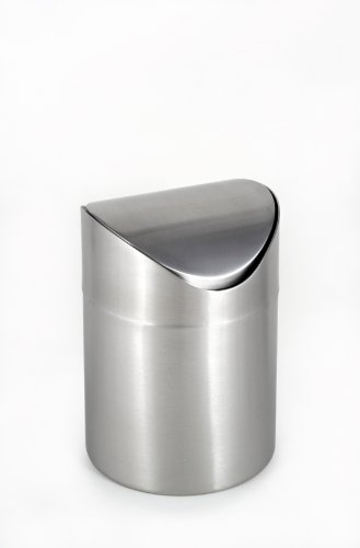 UPC 049666711714, StainlessLUX 71171 Countertop Swing-top Trash Can, Brushed 18/8 Stainless Steel