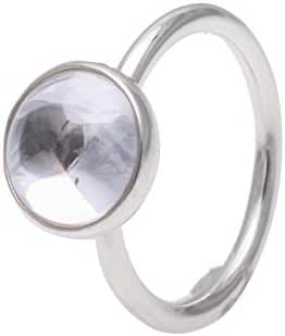 Pandora Poetic Droplet Ring, Clear CZ 190982CZ-54 E.U, 7 US