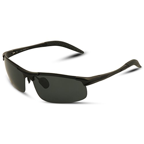 xhorizon FL1 Men's Sports Style Polarized Sunglasses for Men Driving Cycling Running Fishing Golf Unbreakable Frame Metal Driver Glasses with - Sunglasses 4 In 1