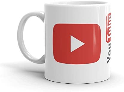 Family Shoping Diwali Gifts Bhai Dooj For Brother YouTube Logo White Coffee Mug 320ml Birthday Gift Everyone Sister