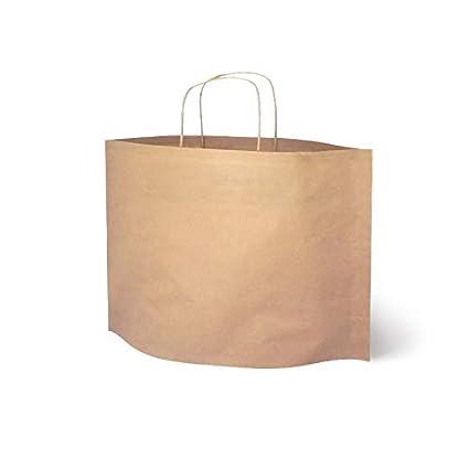 Bolsa de Papel Cesta Kraft, Packs de 25 uds (30 x 10 x 25)