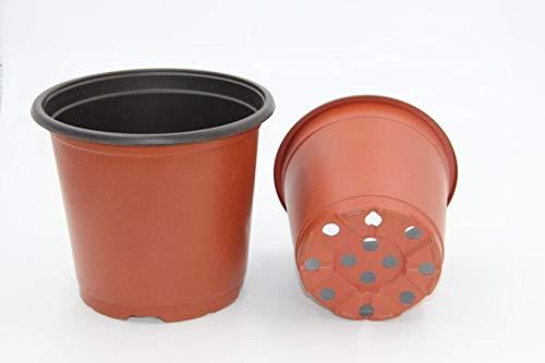 100 Pcs 4.33 Plastic Plants Nursery Pot/Pots Seedlings Flower Plant Container Seed Starting Pots