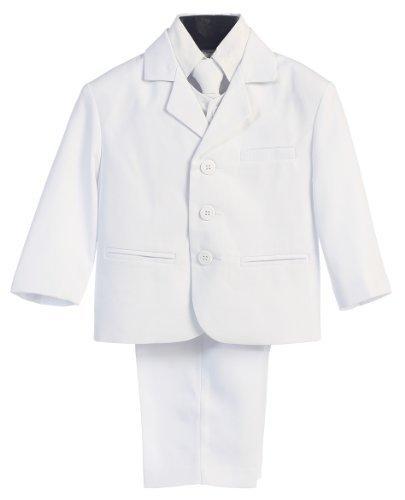 5 piezas blancas primera comunión o bautizo traje con camisa ...