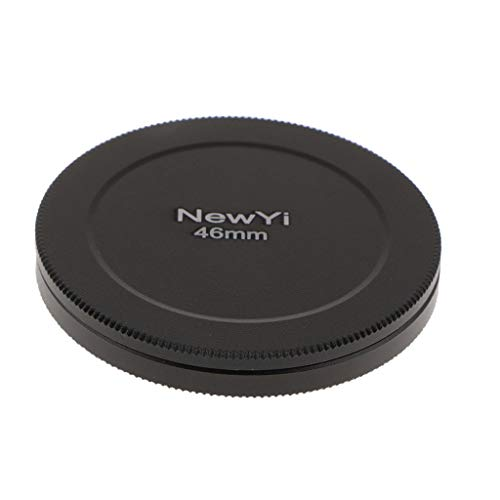 SM SunniMix Portable 46mm UV CPL Filter Case Lens Cover Stack Storage Cap Metal Box - Black, Anti-Scratched Pressure Resistance