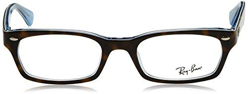 Ray Ban Optical Montures de lunettes RX5150 Pour Femme Brown On Tortoise, 48mm Noir (Negro)