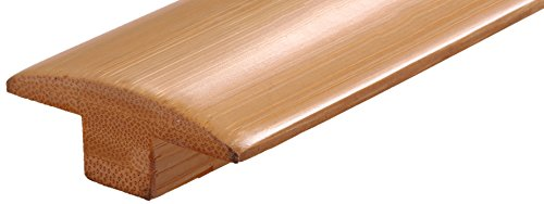 Prefinished Natural (4 Pieces of 24 Linear FT AMERIQUE Prefinished Solid Horizontal Natural Bamboo T-Moldings, L: 72