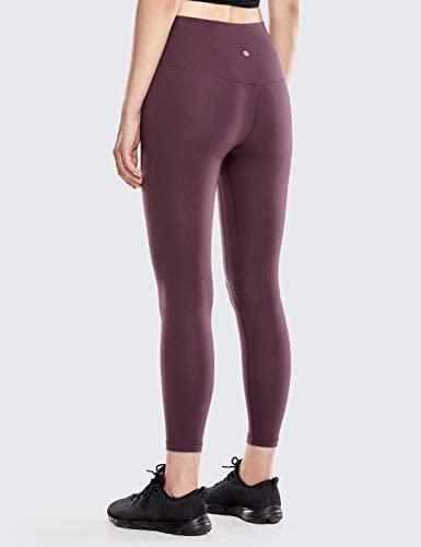 CRZ YOGA Womens Matte High Waisted Yoga Pants Tummy Control Workout Leggings -25 Inches