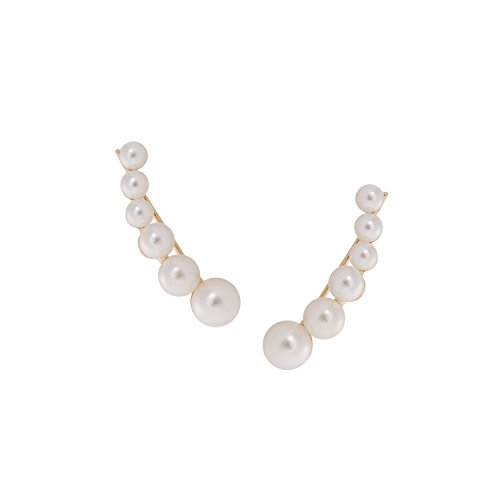 Artificial Pearls Earrings (Gold) - 6
