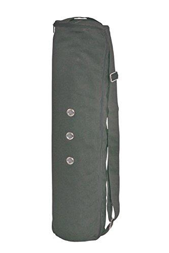 MERU Dual Air-flow Zipper 3 Storage Pockets Yoga Mat Bag, Large – Black