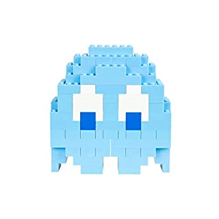 Strictly Briks Pac-Man & BANDAI NAMCO Entertainment Inc | Pac-Man Classic Briks Inky Ghost - 116 Pieces Classic Briks 3D Build