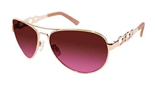 Jessica Simpson Women's J5399 Rgld Aviator Sunglasses, Rose Gold, 56 - Jessica Sunglasses Simpson Gold Aviator