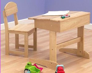 Childrens Wooden Educational Desk Chair Amazoncouk Kitchen Home