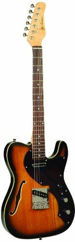 Jay Turser Lt Series Jt-ltcrusdlx-ans Semi Hollow-body Electric Guitar, Antique Natural Sunburst