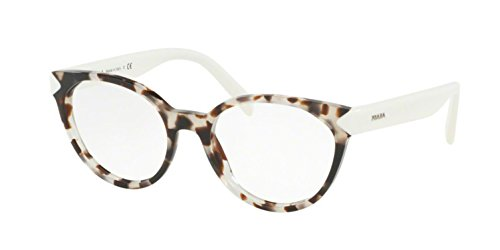 Prada PR01TV Eyeglass Frames UAO1O1-53 - Spotted Opal Brown PR01TV-UAO1O1-53