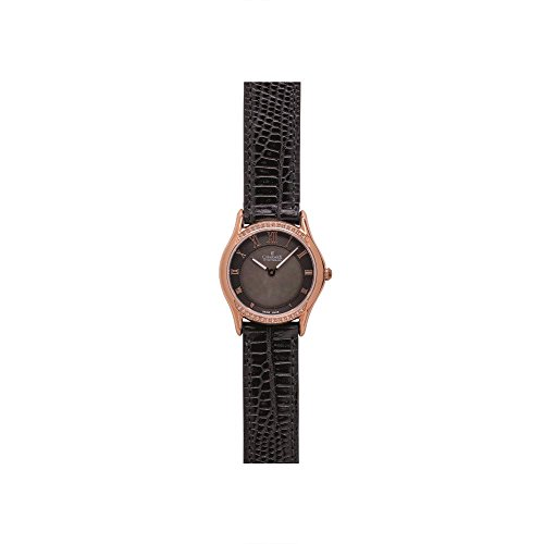 Charmex Cannes 6327 30mm Stainless Steel Case Black Calfskin Synthetic Sapphire Women's Watch