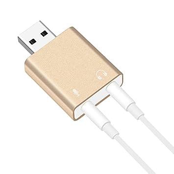 creatspaceES Tarjeta de Sonido Externa USB a Auriculares ...