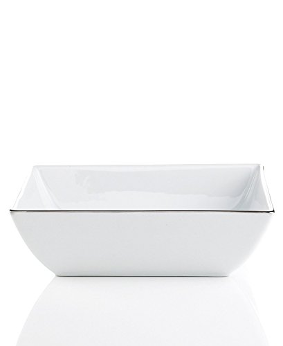 Square Open Vegetable Bowl (Charter Club Grand Buffet Fine Line Platinum Square Vegetable Bowl)