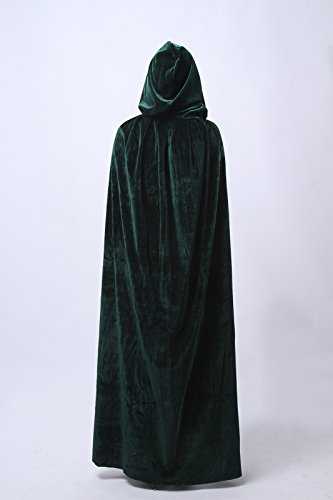 Nuoqi Mens Halloween Costumes Unisex Adults Cosplay Green Cape Cosplay Costumes by Nuoqi (Image #5)