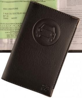 enorme sconto 74be4 fab9c Porta documenti per auto completo, in simil pelle nero ...