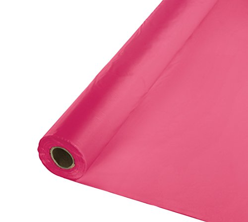 Creative Converting Roll Plastic Table Cover, 100-Feet, Hot Magenta