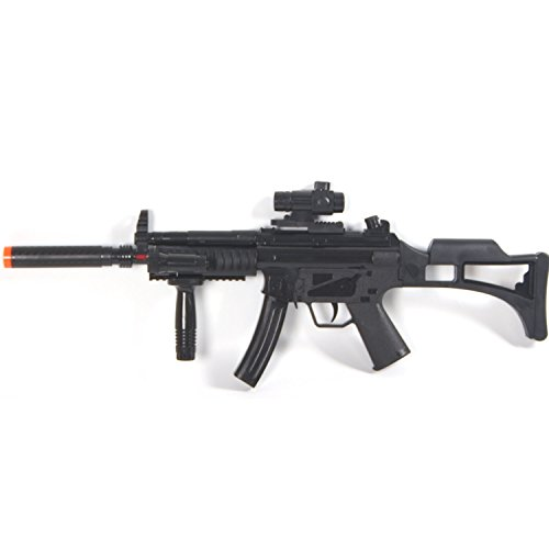 Rifle Force Laser Sound Assault Machine Gun with Infrared and Sound (Military Toy Guns)