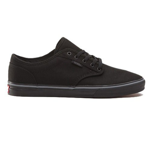 Vans Womens Atwood Canvas Low Top Lace Up Skateboarding, Black/Black, Size 8.0