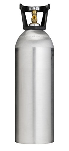 Cyl-Tec 20 lb CO2 Tank - Aluminum Cylinder with CGA320 Valve and Carry Handle ()
