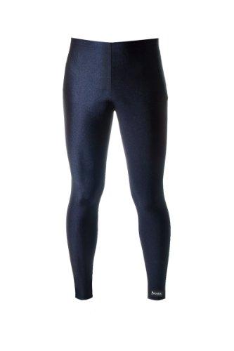 Aeroskin Pants with Drawstring and Elastic Waist (Black, Medium)
