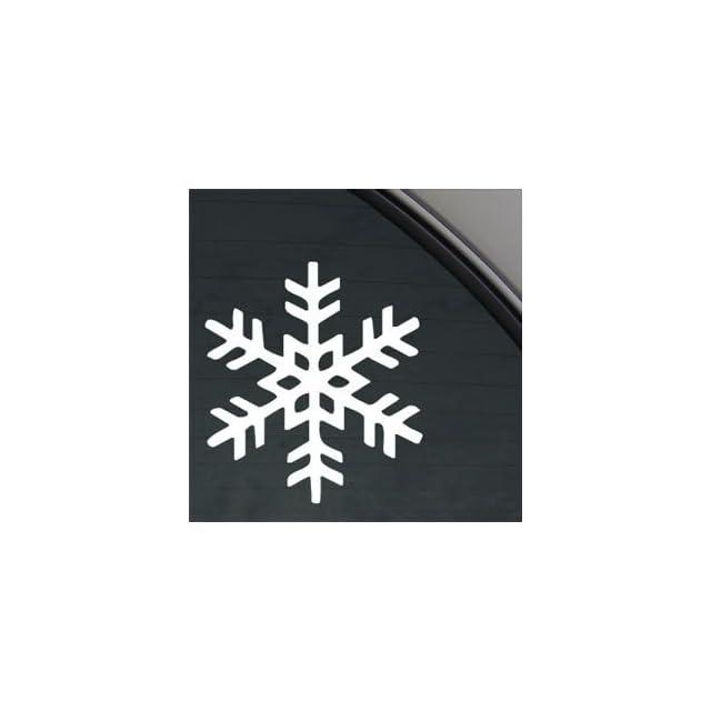 Snowflake White Sticker Decal Snow Winter Ice Crystal