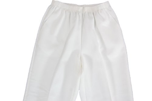 Alfred Dunner Polyester Pull-On Pants - Short, White, 14
