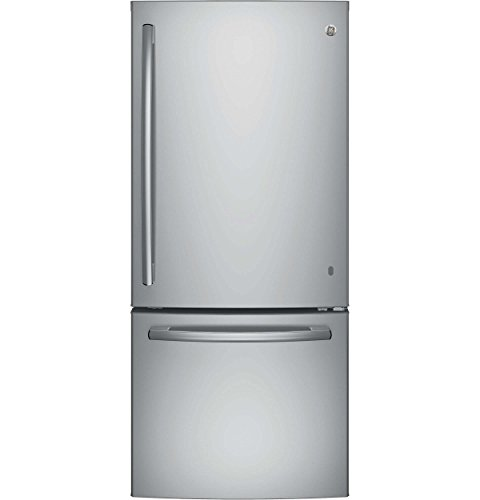 GE GBE21DSKSS 20.9 Cu. Ft. Stainless Steel Bottom Freezer Refrigerator - Energy Star