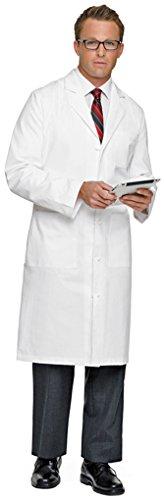 Landau Men's 3-Pocket Super Twill Lab Coat White super twill