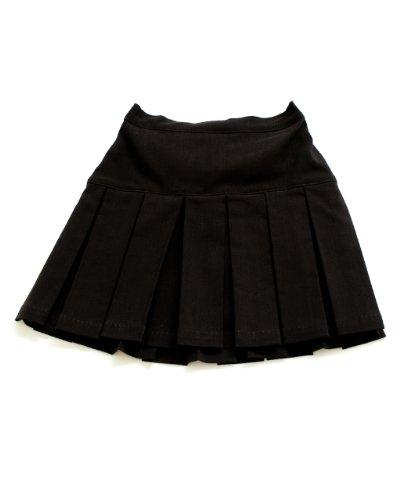 Girls Black Pleated Scooter Skort School Uniform