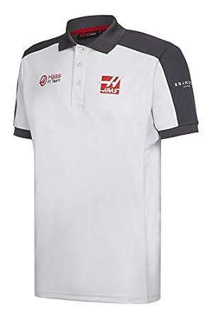 Haas F1 Team Sponsor - Polo para Hombre (Talla S), Color Gris ...