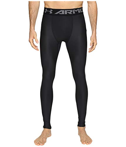 Under Armour Men's HeatGear Armour 2.0 Leggings, Black (001)/Graphite, Large